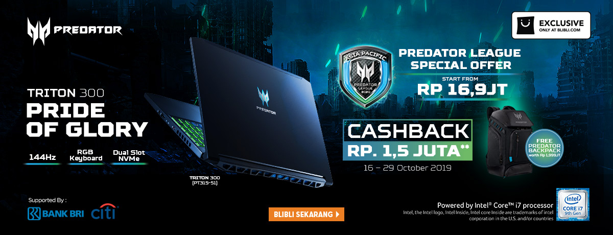 Exclusive Pre-Order Acer Predator Triton 300