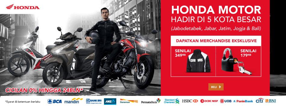 Honda hadir di 5 Kota!