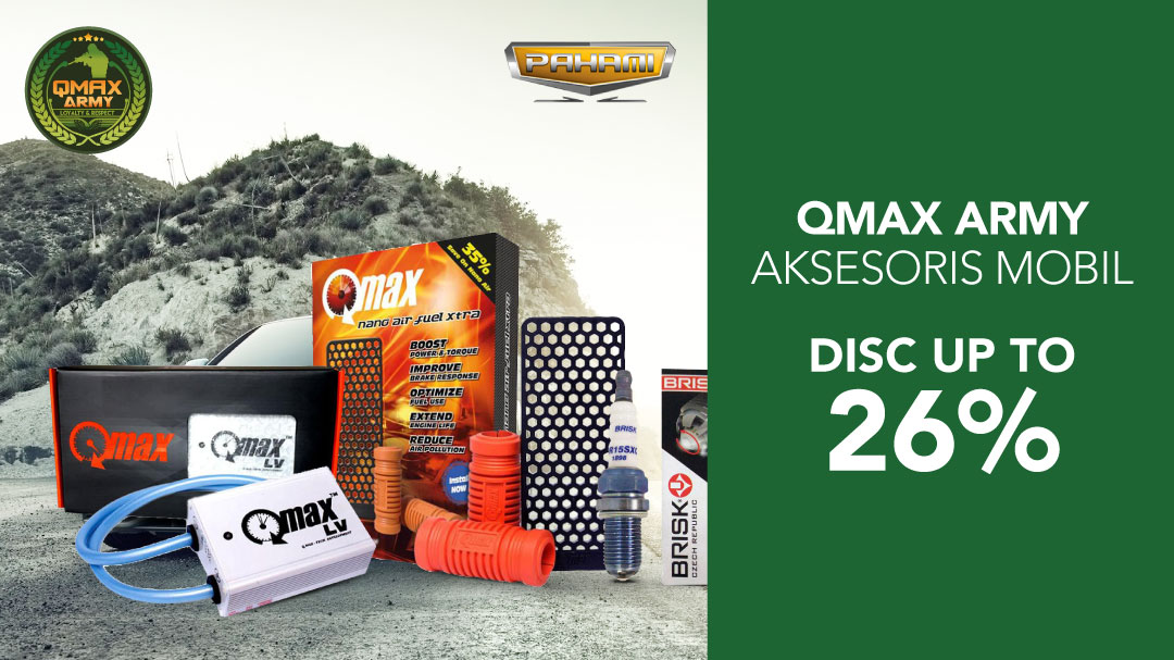 Penawaran terbaik dari QMAX untuk aksesoris mobil di Blibli.com