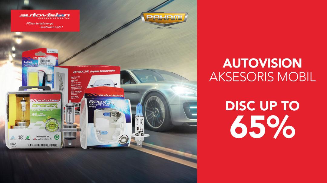 Penawaran terbaik dari Autovision untuk aksesoris mobil di Blibli.com