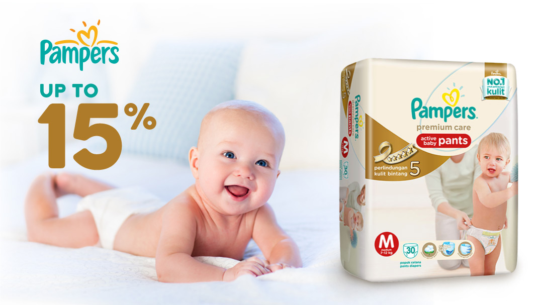 Pampers Up To 15%