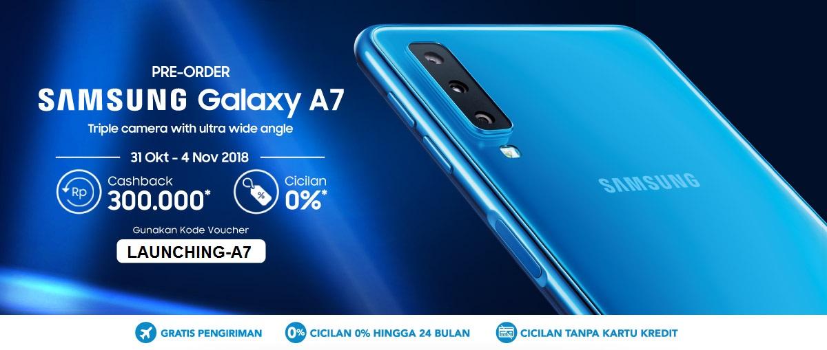 Launching Samsung Galaxy A7 2018 Terbaru Promo Cashback Blibli Com