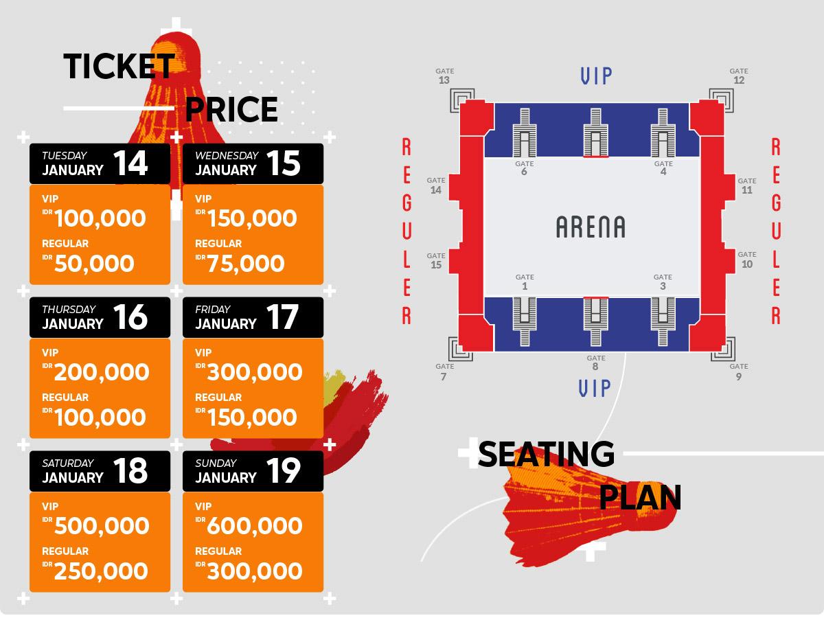 Harga Tiket Daihatsu Indonesia Masters 2020