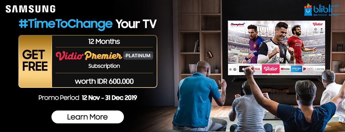 Samsung TV x Vidio
