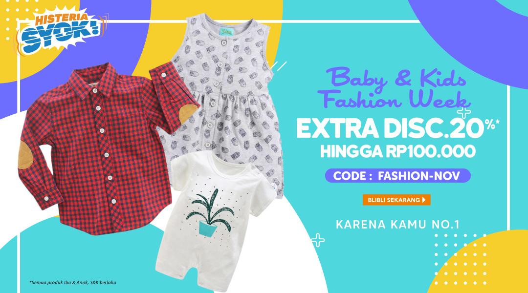 Baby & Kids Fashion Week Extra Disc. 20% - Blibli.com
