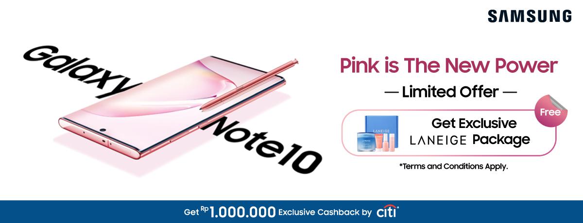 Samsung Galaxy Note 10 Pink x Laneige
