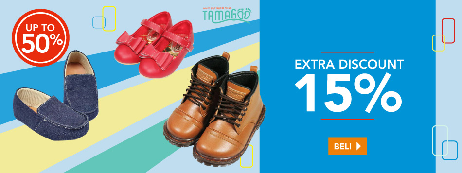 Tamagoo Shoes Extra Diskon 15%