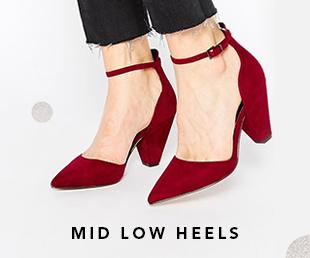 mid low heels