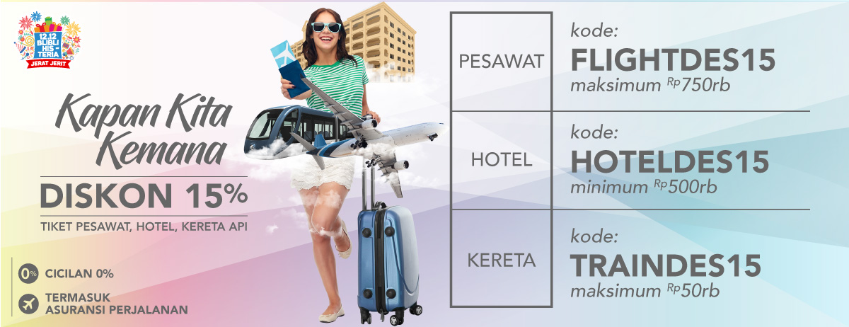 HOLIDAY Diskon Travel 15%