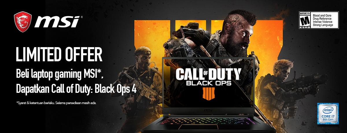MSI Free Call Of Duty : Black Ops 4