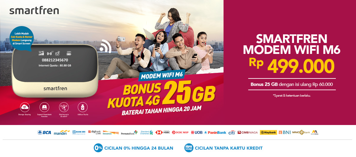 Jual Modem Smartfren Mifi M6 - Promo Murah | Blibli com