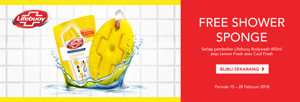 Lifebuoy Free Shower Sponge