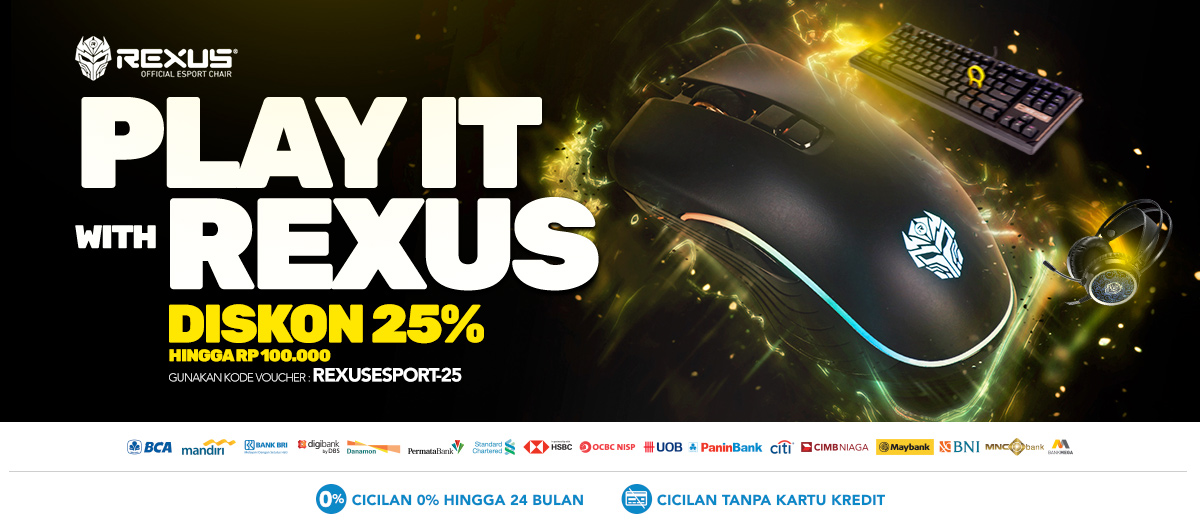 Jual Aksesoris Gaming Rexus - Harga Murah Promo 2019 | Blibli.com