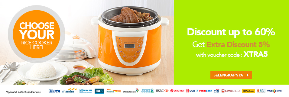 Rice Cooker Ekstra Diskon