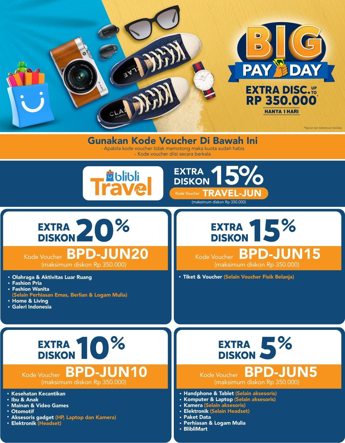 Big Pay Day - Promo Gajian Termurah 2019, Diskon Menarik! | Blibli.com