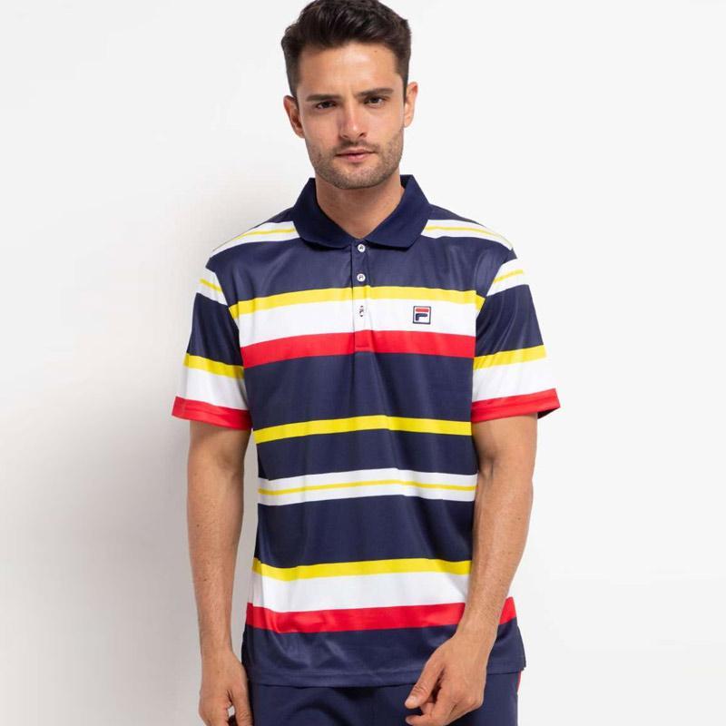 FILA Baju Olahraga Pria Heritage Polo Shirt Navy