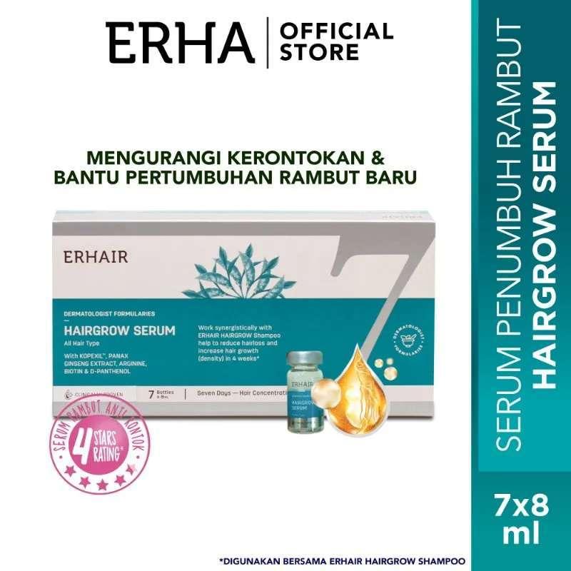 ERHA Erhair Hairgrow Serum 7 pcs 8 mL Serum Penumbuh Rambut