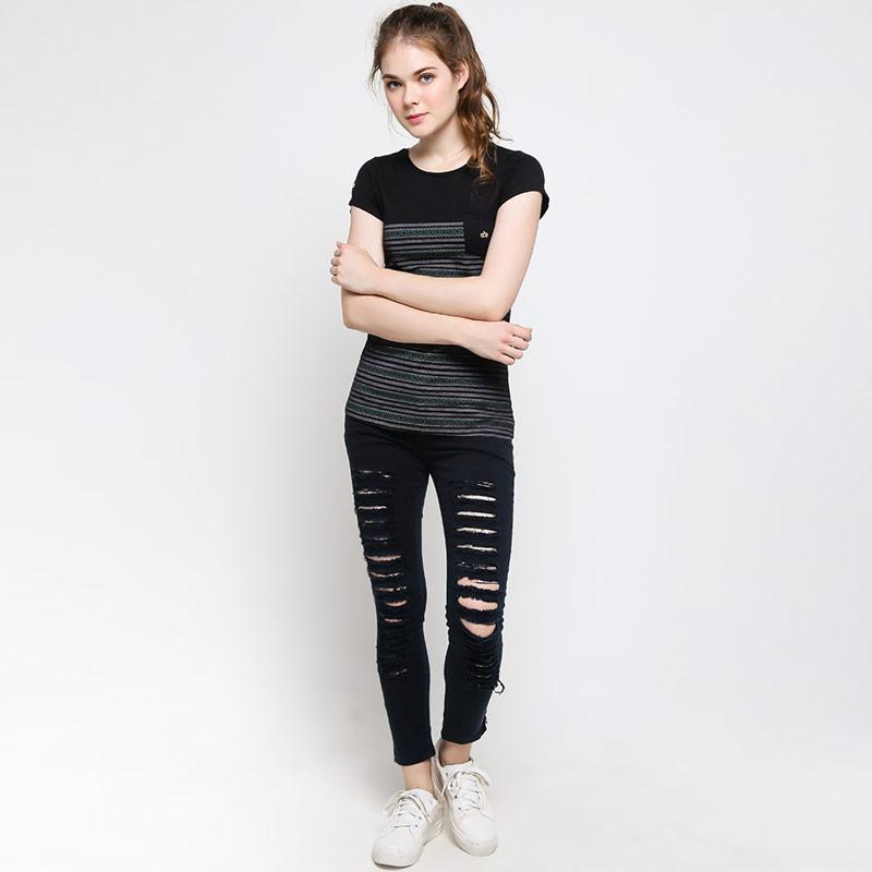 Jual 3 Second Ladies 188061722 T-Shirt Wanita - Black Online - Harga    Kualitas Terjamin  3c9c344c77
