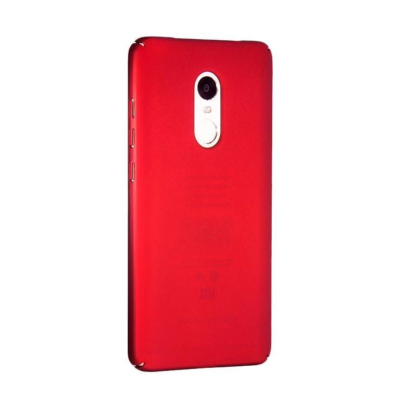 Fashion Baby Skin Ultra Thin Hardcase Casing for Xiaomi Redmi Note 4 - Red