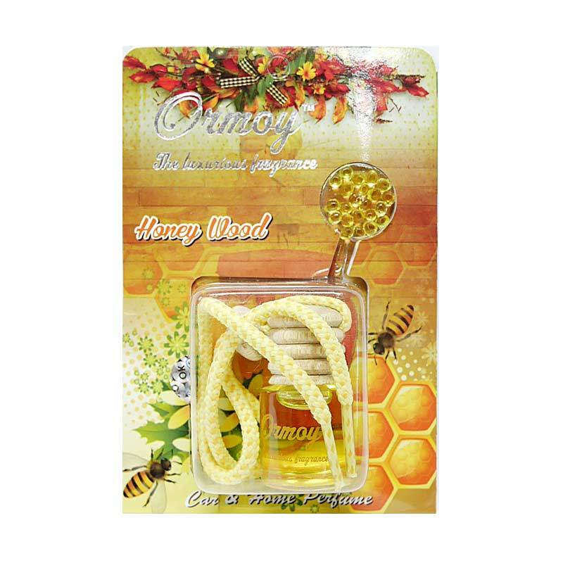 Ormoy Gantung Liquid Air Freshener Parfum Mobil - Honey Wood [9 mL]
