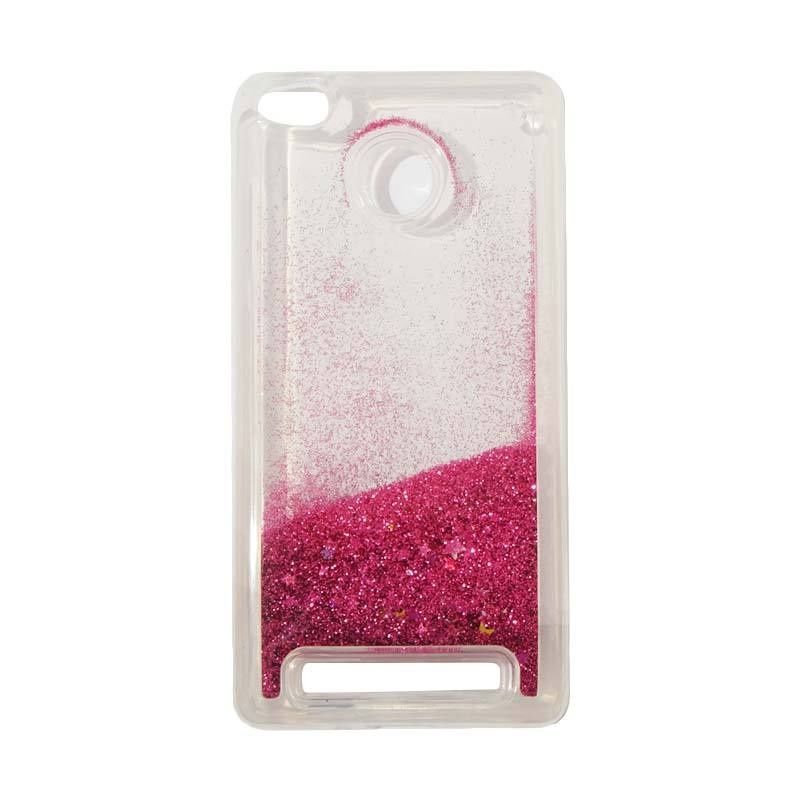 harga QCF Softcase Water Glitter Aquarium Casing for Xiaomi Redmi 3X Silikon / Case Blink - Pink Tua Blibli.com