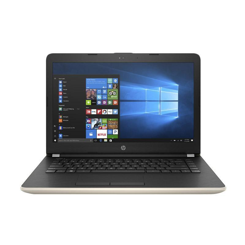 HP 14-BS012TX Notebook - Gold [Intel Core i5-7200U/ 4GB/ WIN 10]