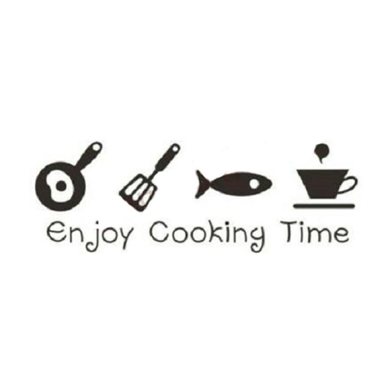 OEM Enjoy Cooking Time Kitchen Wall Sticker Dekorasi Dinding