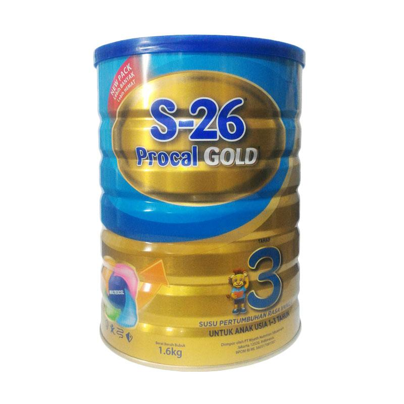 Wyeth S-26 Procal Gold Tahap 3 Vanila - 1600gr