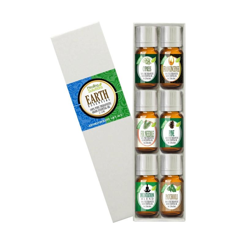 Healing Solutions Essential Earth Set 100% Pure, Best Therapeutic Grade Essential Oil Kit [10 mL]