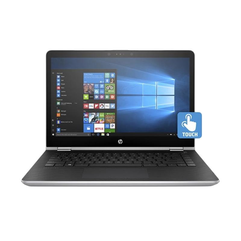 WEB_HP Pavilion X360 14-BA001TX Notebook - Silver [i3-7100U/4 GB/1 TB/940MX 2 GB/14