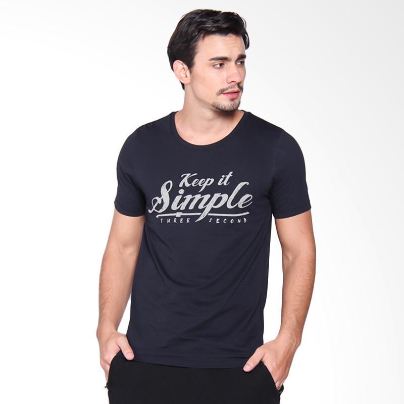 3Second Tshirt 1909 Kaos Pria - Blue 119091712