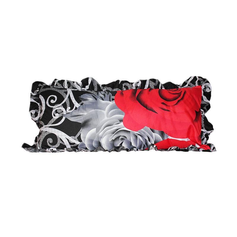 Monalisa Motif Black Rose Sarung Bantal Cinta [45 x 95 cm]