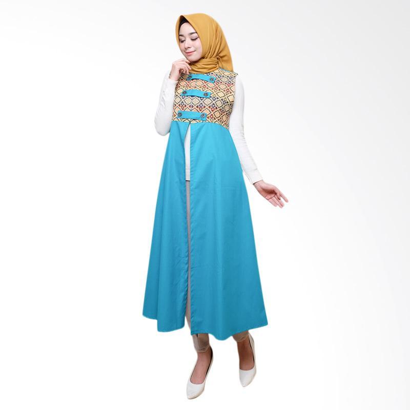 harga Abang Sky Fashon Batik Songket Tenun Long Cardigan Wanita - Sky Blue Blibli.com