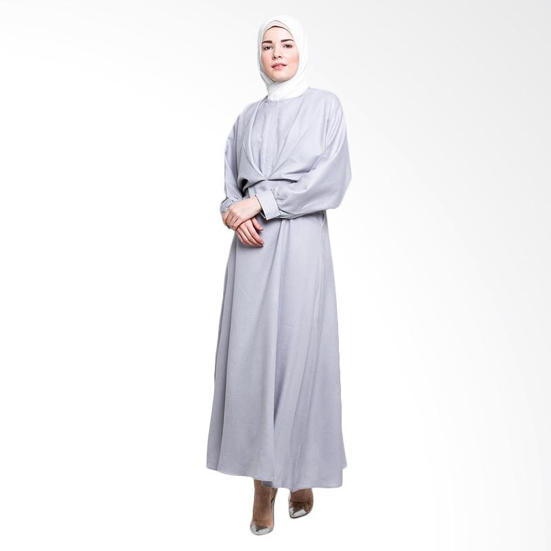Allev Ramiza Dress Gamis - Silver