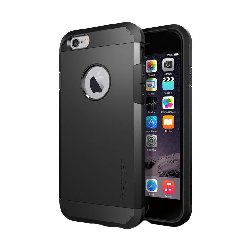 Spigen Tough Armor Casing for Apple iPhone 6S or iPhone 6 - Smooth Black