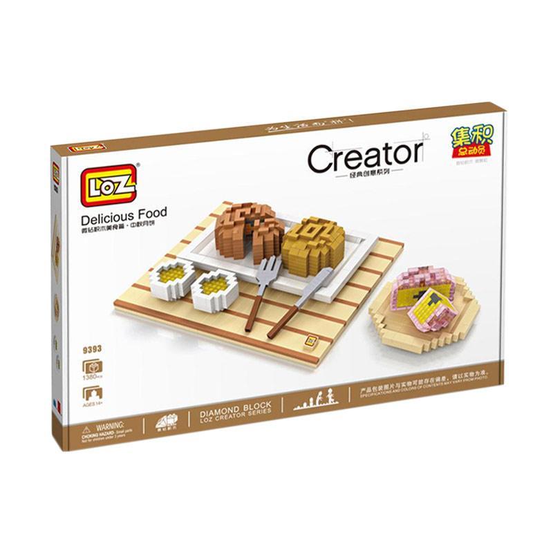 Loz Diamond Block Creator 9393 Delicios Food Mainan Anak