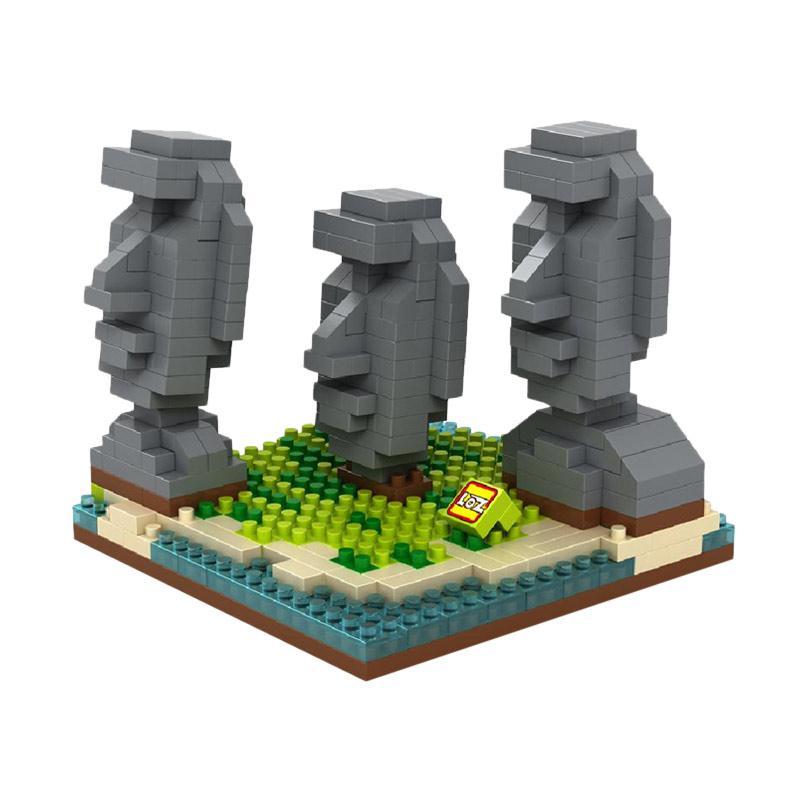 Loz Diamond Block World Famous Architecture Series 9378 Easter Island Mainan Anak