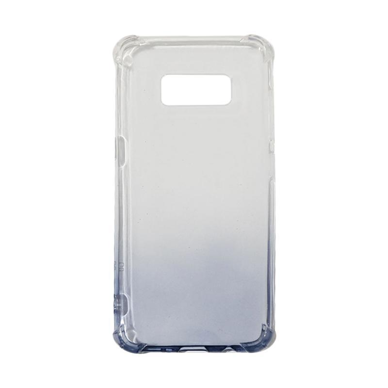 QCF BUY 1 GET 1 Softcase Anti Crack Anti Shock Warna Gradasi Casing for Samsung Galaxy S8 Silikon / Case Unik - Hitam (Free Warna Random)
