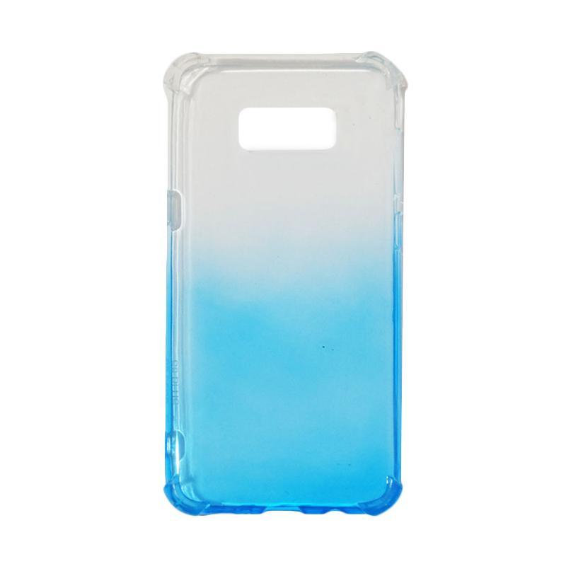 QCF BUY 1 GET 1 Softcase Anti Crack Anti Shock Warna Gradasi Casing for Samsung Galaxy S8 Plus / S8+ Silikon / Case Unik - Biru (Free Warna Random)
