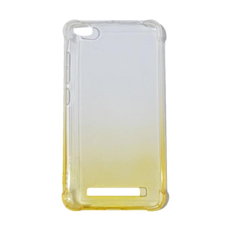QCF BUY 1 GET 1 Softcase Anti Shock Anti Crack Warna Gradasi Silicone Casing for Xiaomi Redmi 4A Ultrathin / Case Unik - Kuning (Free Warna Random)