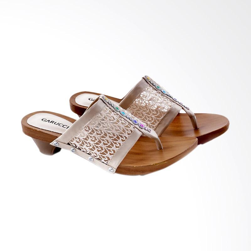 Garucci GHE 7139 Sandal Heels Wanita - Cream