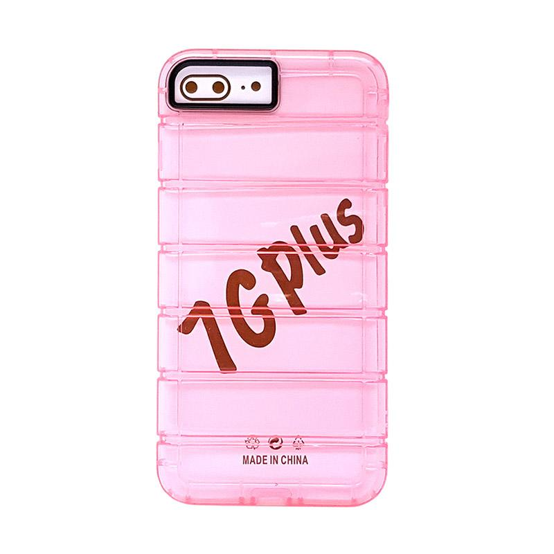 Fashion Case Anti Crack Fall Casing for iPhone 7 plus - Rose Pink