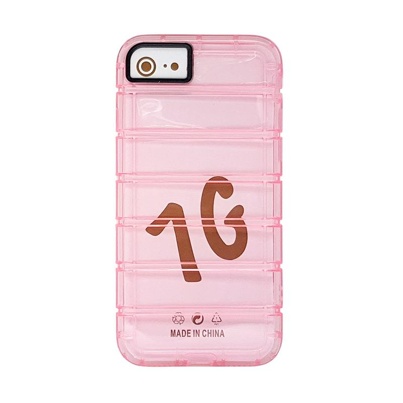 Fashion Case Anti Crack Casing for iPhone 7 - Rose Pink