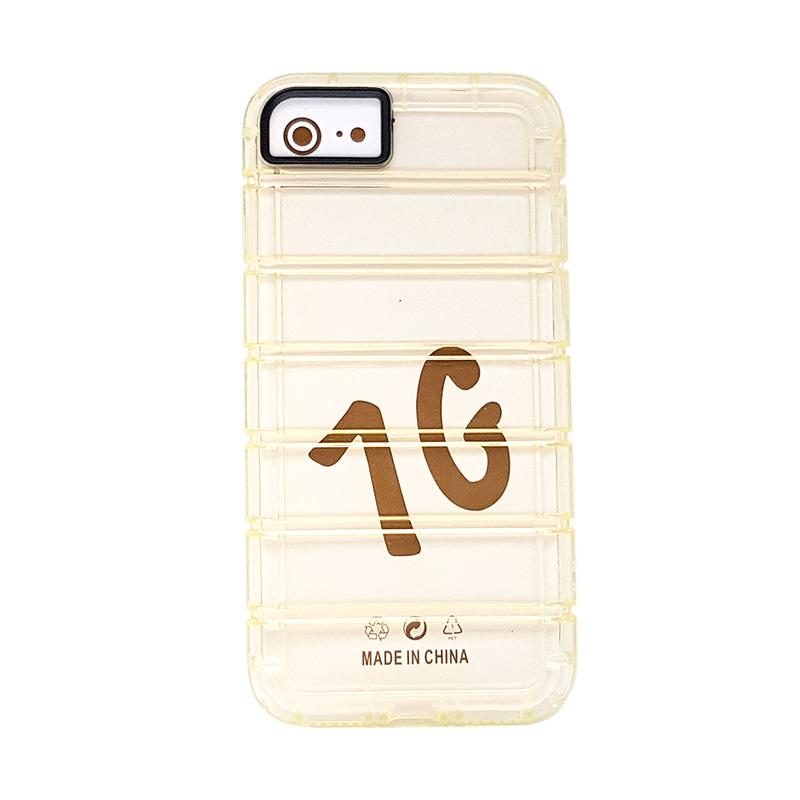 Fashion Case Anti Crack Casing for iPhone 7 - Gold