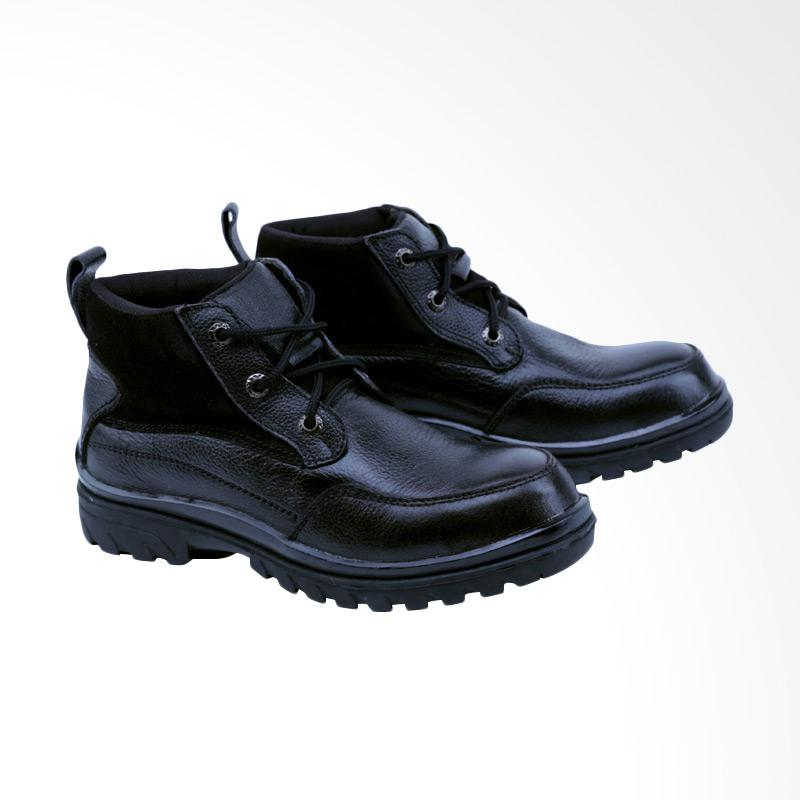 Garsel Sepatu Boots Pria - Hitam GRN 2503