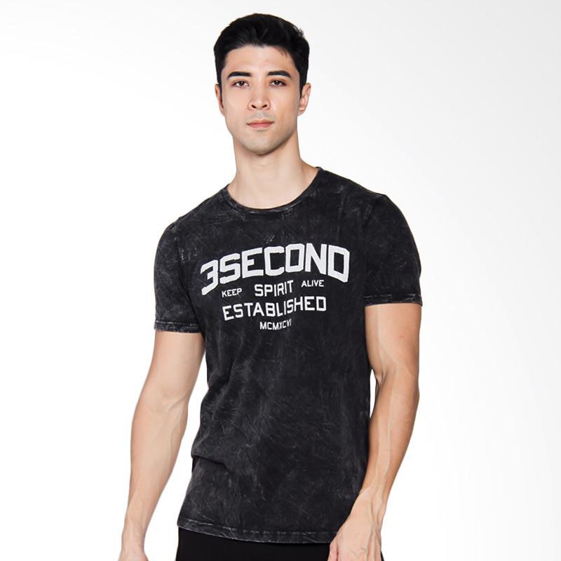 3SECOND 4404 T-shirt Pria - Black [144041712]