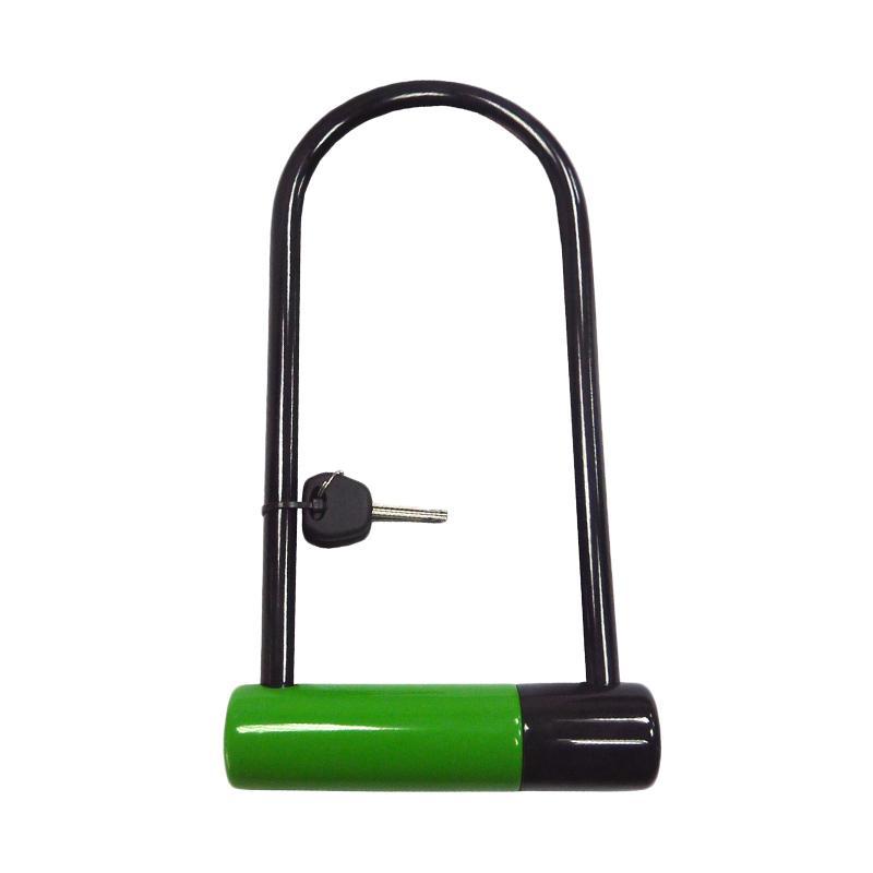 STEEL MARK U Bolt Lock Gembok - Green [Medium]