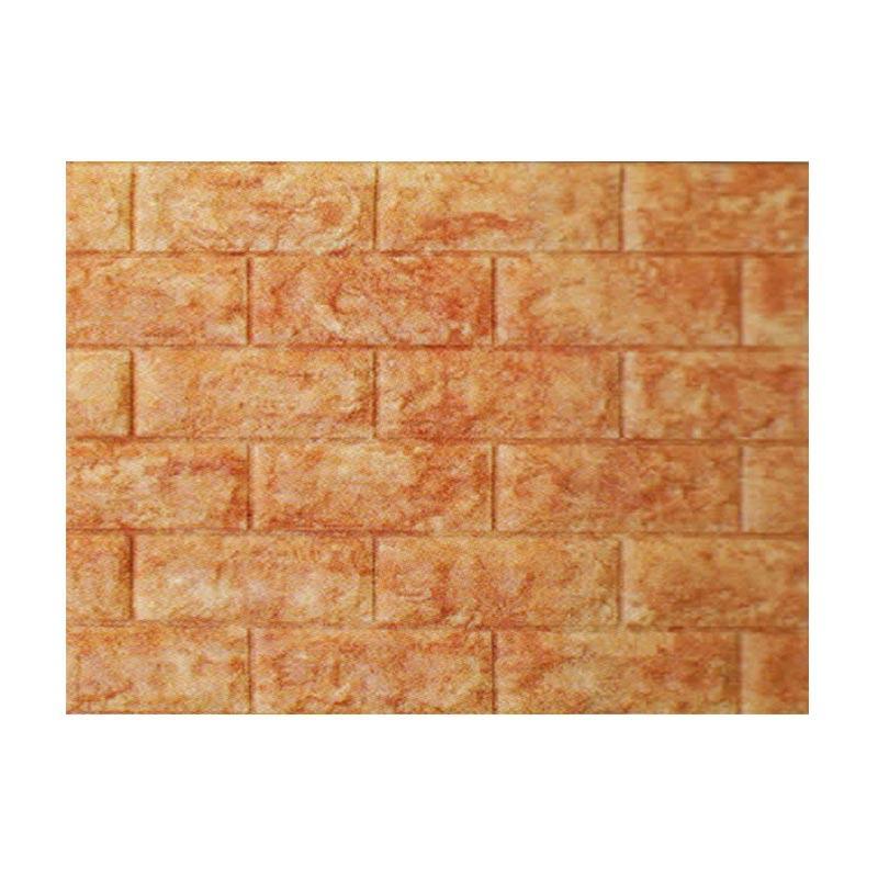 Hyundae Fixpix Roll Fix Brick 3D Foam Embossed AB 22 Wallpaper - Brown