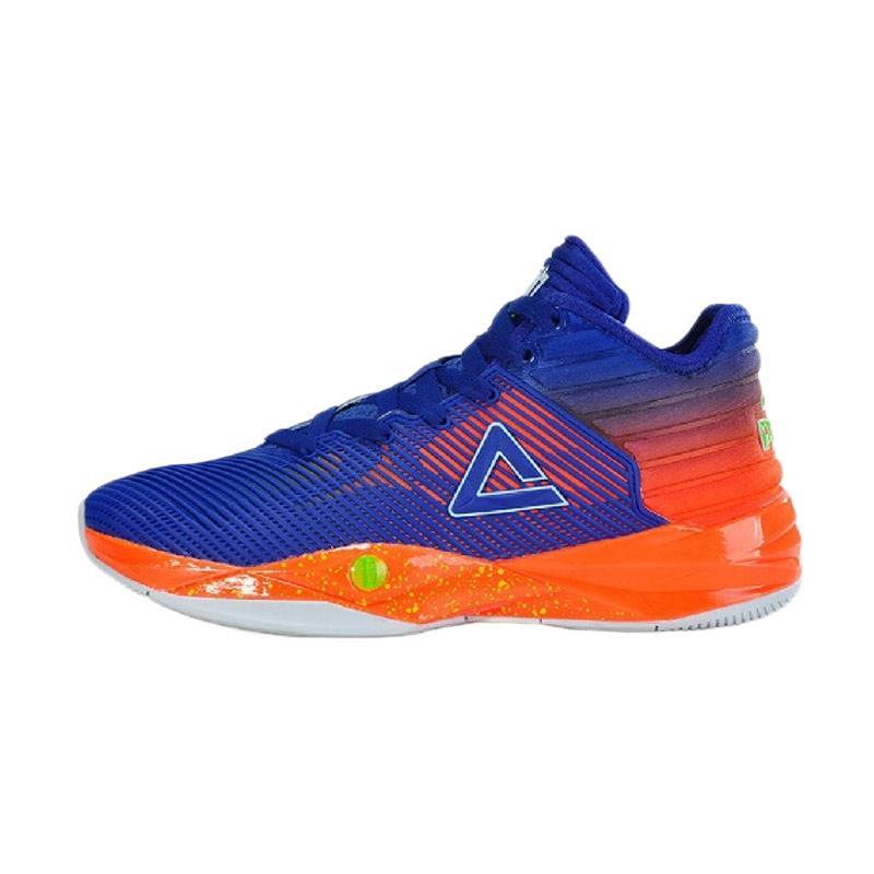 harga PEAK Dwight Strong Howard II Plus Sepatu Basket Pria - Blue Orange [E72003A] Blibli.com