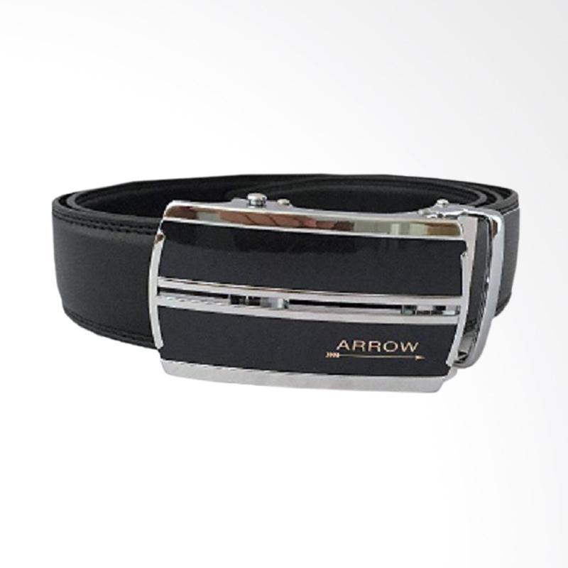 Arrow Leather Belt Ikat Pinggang Pria - Hitam [BP-AR2124SRA26-37A180-437SR]